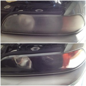 This car's previous owner tried to restore this headlight without success; but with the SMART way, we fixed it. BMW e39