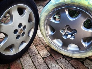 Smart Finish repairs - making these old Lexus wheels look new again.