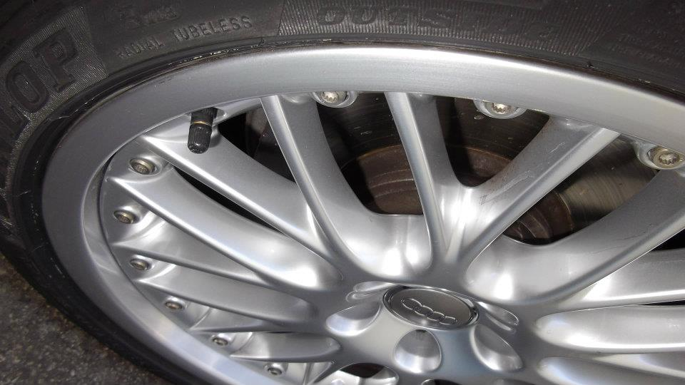 Polished Alloy Wheel Repairs After